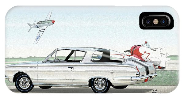1965 Barracuda  Classic Plymouth Muscle Car IPhone Case