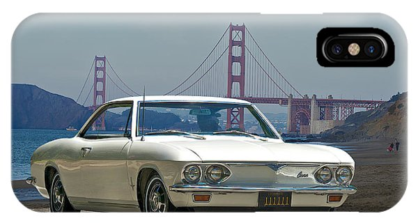 Corvair iPhone Case - 1965 Corvair At The Golden Gate Bridge by Dave Koontz