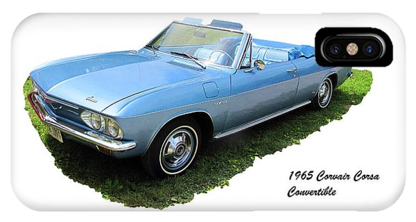 Corvair iPhone Case - 1965 Corvair Corsa Convertible by C H Apperson