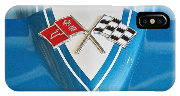 1965 Corvette Flags Emblem IPhone Case
