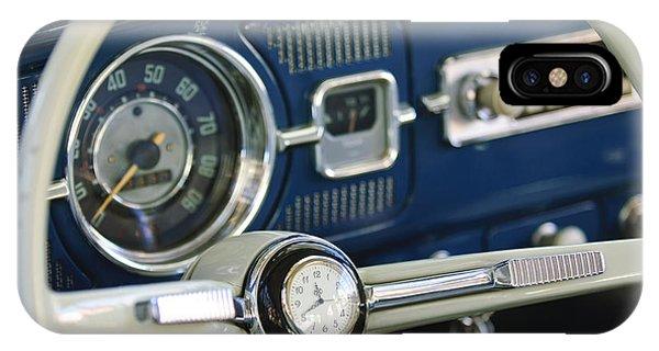 Volkswagen iPhone Case - 1965 Volkswagen Vw Beetle Steering Wheel by Jill Reger
