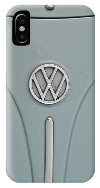 IPhone Case featuring the photograph 1965 Volkswagen Beetle Hood Emblem by Jani Freimann