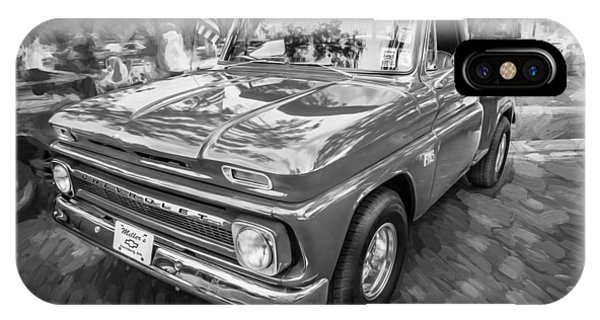 1966 Chevy C10 Pick Up Truck Painted Bw IPhone Case