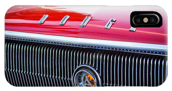 1966 Dodge Charger Grille Emblem IPhone Case