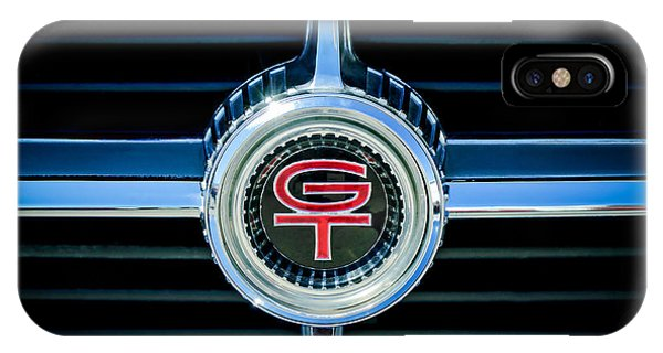 Ford Gt Iphone Case  Ford Fairlane Gt Grille Emblem By Jill Reger