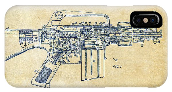 Weapons iPhone Case - 1966 M-16 Gun Patent Vintage by Nikki Marie Smith