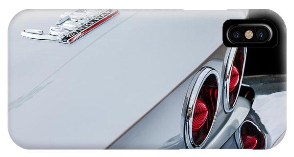 Coupe iPhone Case - 1967 Chevrolet Corvette Coupe Taillight Emblem by Jill Reger