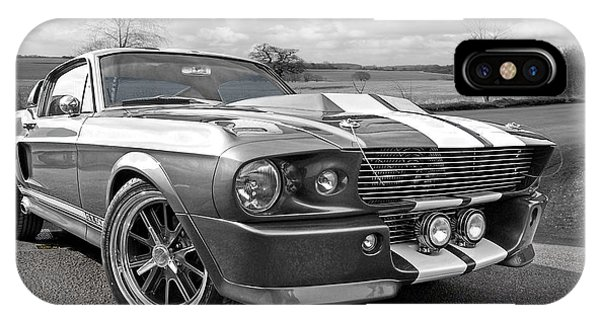 1967 Eleanor Mustang In Black And White IPhone Case
