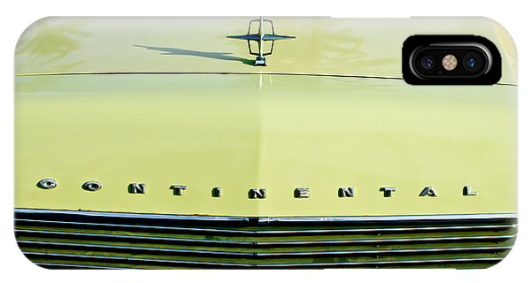 Lincoln Continental iPhone Case - 1967 Lincoln Continental Grille Emblem - Hood Ornament by Jill Reger