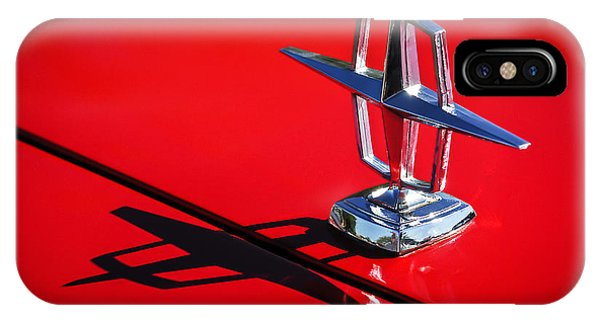 Lincoln Continental iPhone Case - 1967 Lincoln Continental Hood Ornament -1204c by Jill Reger
