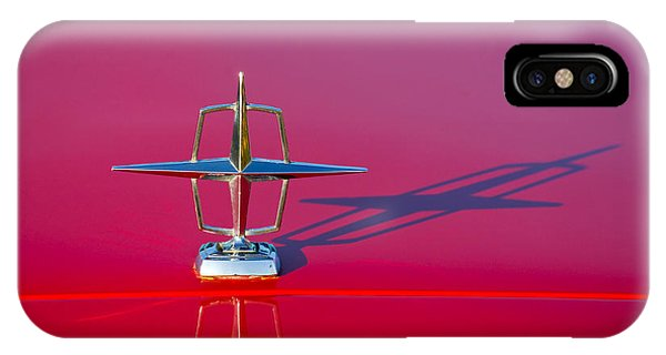 Lincoln Continental iPhone Case - 1967 Lincoln Continental Hood Ornament -158c by Jill Reger
