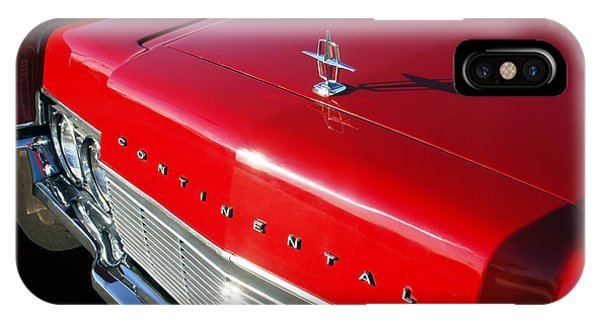 Lincoln Continental iPhone Case - 1967 Lincoln Continental Hood Ornament - Emblem -646c by Jill Reger