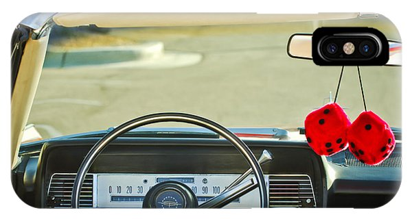 Lincoln Continental iPhone Case - 1967 Lincoln Continental Steering Wheel -014c by Jill Reger