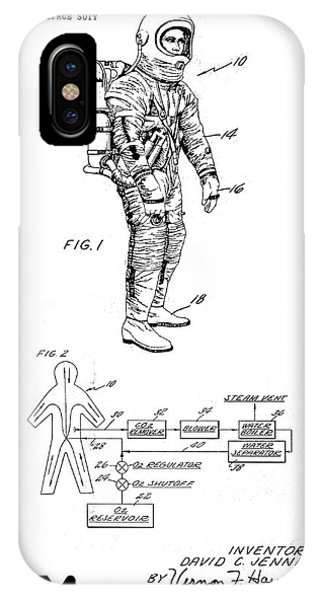 Vintage iPhone Case - 1967 Nasa Astronaut Ventilated Space Suit Patent Art 3 by Nishanth Gopinathan