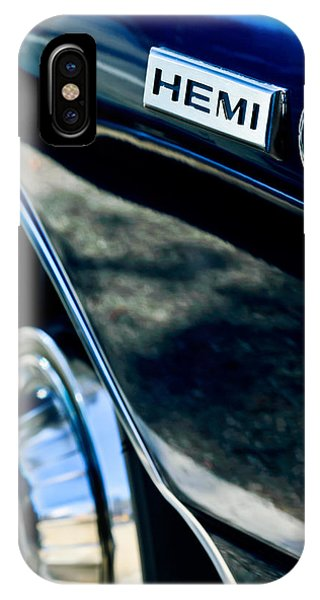 1968 Dodge Charger Rt Coupe 426 Hemi Upgrade Emblem IPhone Case