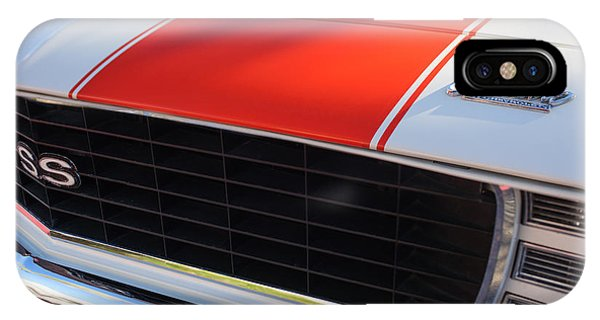 1969 Chevrolet Camaro Rs-ss Indy Pace Car Replica Grille - Hood Emblems IPhone Case
