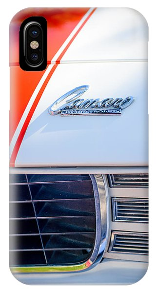 1969 Chevrolet Camaro Rs-ss Indy Pace Car Replica Hood Emblem IPhone Case