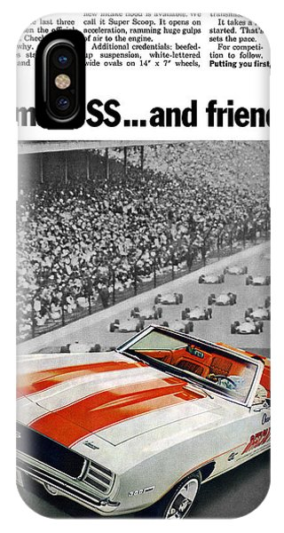 1969 Chevrolet Camaro Ss Indy 500 Pace Car Ad IPhone Case