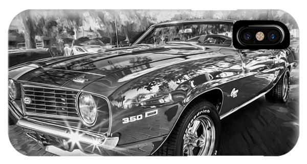 1969 Chevy Camaro Ss Painted Bw  IPhone Case