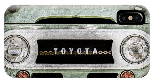 1969 Toyota Fj-40 Land Cruiser Grille Emblem -0444ac IPhone Case