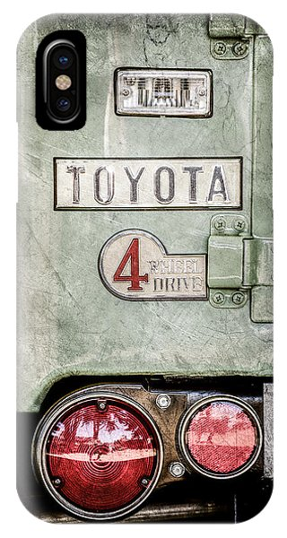 IPhone Case featuring the photograph 1969 Toyota Fj-40 Land Cruiser Taillight Emblem -0417ac by Jill Reger