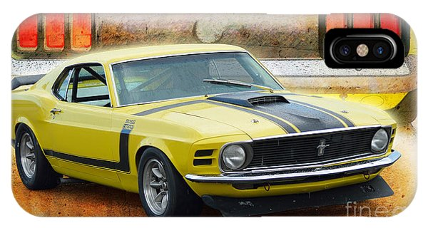 1970 Boss 302 Mustang IPhone Case
