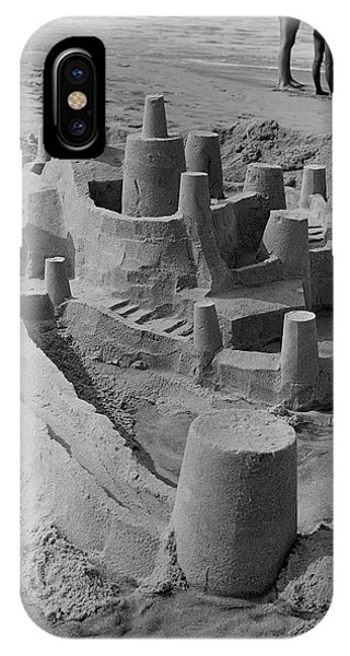 1970s Large Detailed Sand Castle IPhone Case