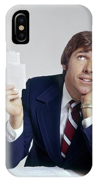 1970s Man Office Business Paperwork IPhone Case