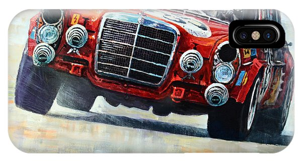 Pig iPhone Case - 1971 Mercedes-benz Amg 300sel by Yuriy Shevchuk