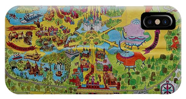Magician iPhone Case - 1971 Original Map Of The Magic Kingdom by Rob Hans
