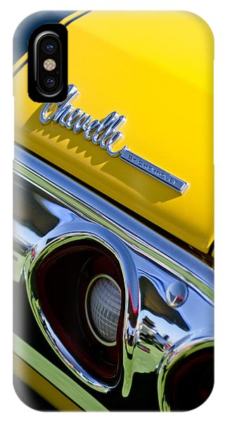 1972 iPhone Case - 1972 Chevrolet Chevelle Taillight Emblem by Jill Reger