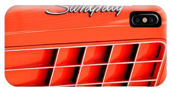 1972 iPhone Case - 1972 Chevrolet Corvette Stingray Emblem 3 by Jill Reger