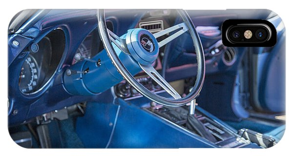 1972 Chevrolet Corvette Stingray Interior Blue 3031.02 IPhone Case