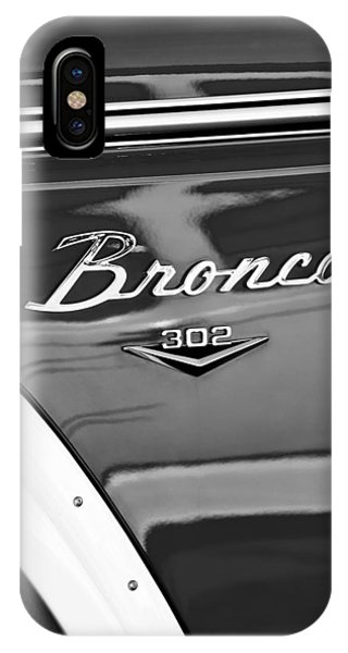 1972 iPhone Case - 1972 Ford Bronco Emblem by Jill Reger