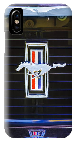 1972 iPhone Case - 1972 Ford Mustang Boss 302 Grille Emblem by Jill Reger