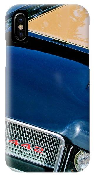 1972 iPhone Case - 1972 Oldsmobile 442 Grille Emblem by Jill Reger