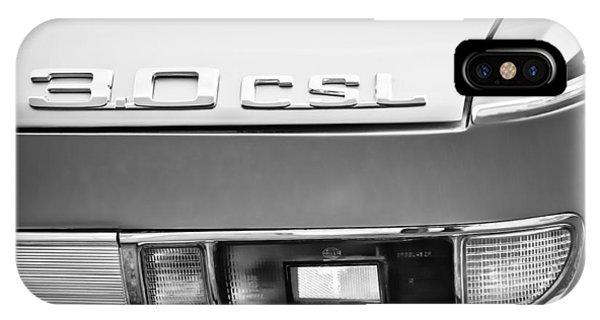 0 iPhone Case - 1973 Bmw 3.0 Csl Side Taillight Emblem -1298bwq by Jill Reger