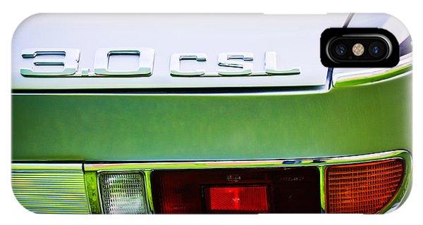 0 iPhone Case - 1973 Bmw 3.0 Csl Side Taillight Emblem -1298c by Jill Reger