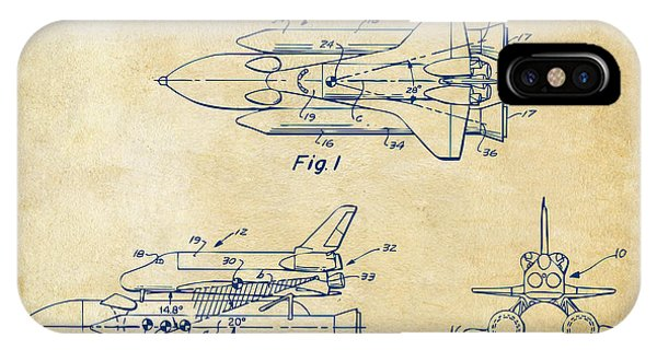 1975 Space Shuttle Patent - Vintage IPhone Case