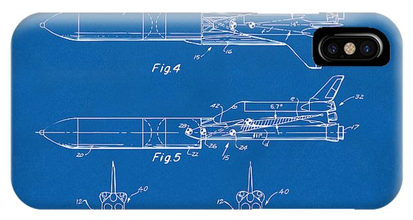 1975 Space Vehicle Patent - Blueprint IPhone Case