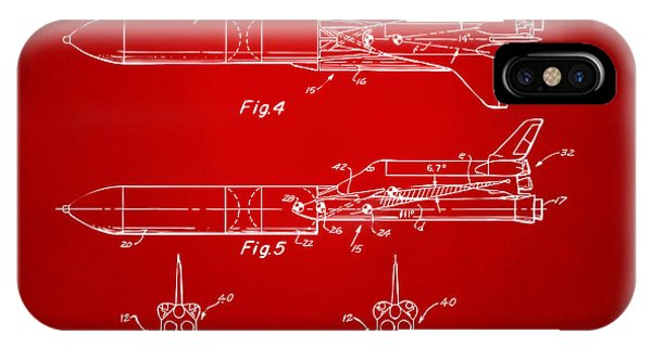 1975 Space Vehicle Patent - Red IPhone Case