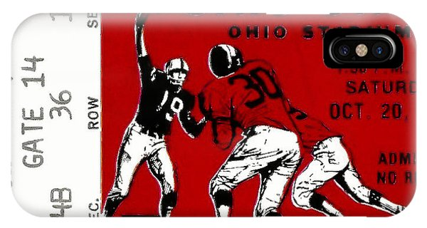 1979 Ohio State Vs Wisconsin Football Ticket IPhone Case