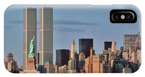 1980s Statue Of Liberty And Twin Towers IPhone Case