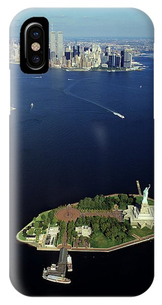 1990s Aerial Of The Statue Of Liberty IPhone Case