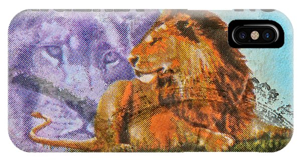 1993 Nigerian Lion Stamp IPhone Case