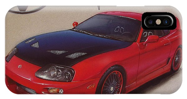 Tuner Car IPhone Case   1994 Toyota Supra By Paul Kuras