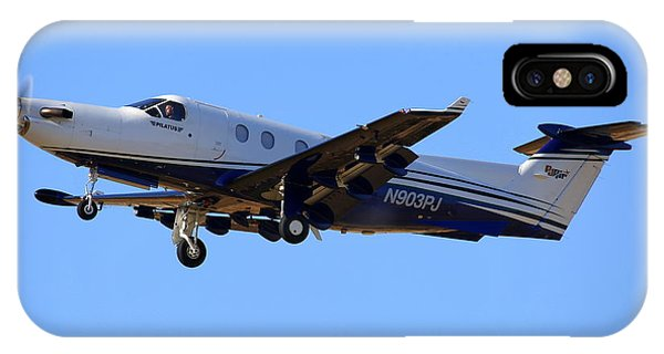 1999 Pilatus Pc-12-45 On Climb-out N903pj Phone Case by John King