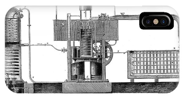 19th Century Ice-making Machine Phone Case by Collection Abecasis/science Photo Library