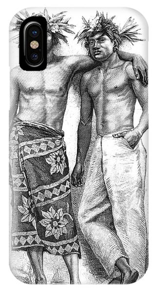 Islanders iPhone Case - 19th Century Tahitian People by Collection Abecasis