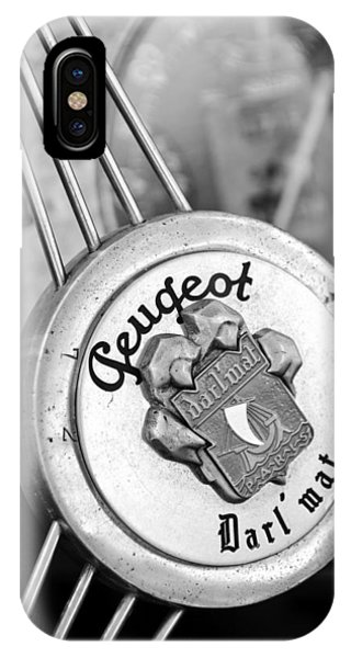 1937 Peugeot 402 Darl'mat Legere Special Sport Roadster Recreation Steering Wheel Emblem IPhone Case